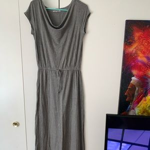 Floor length grey dress